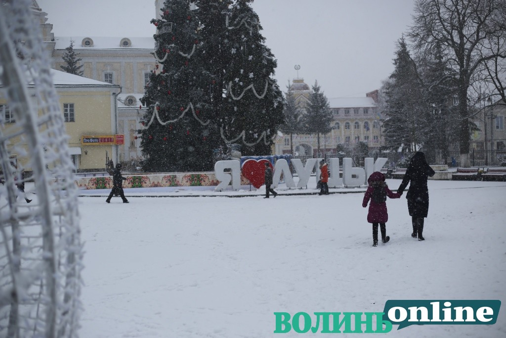 Засніжений Луцьк. ФОТОРЕПОРТАЖ