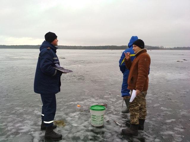 Волинcьким рибалкам нагадали правила безпечної поведінки на льоду