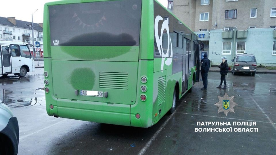 У Луцьку оштрафували водія автобуса, який порушив правила руху