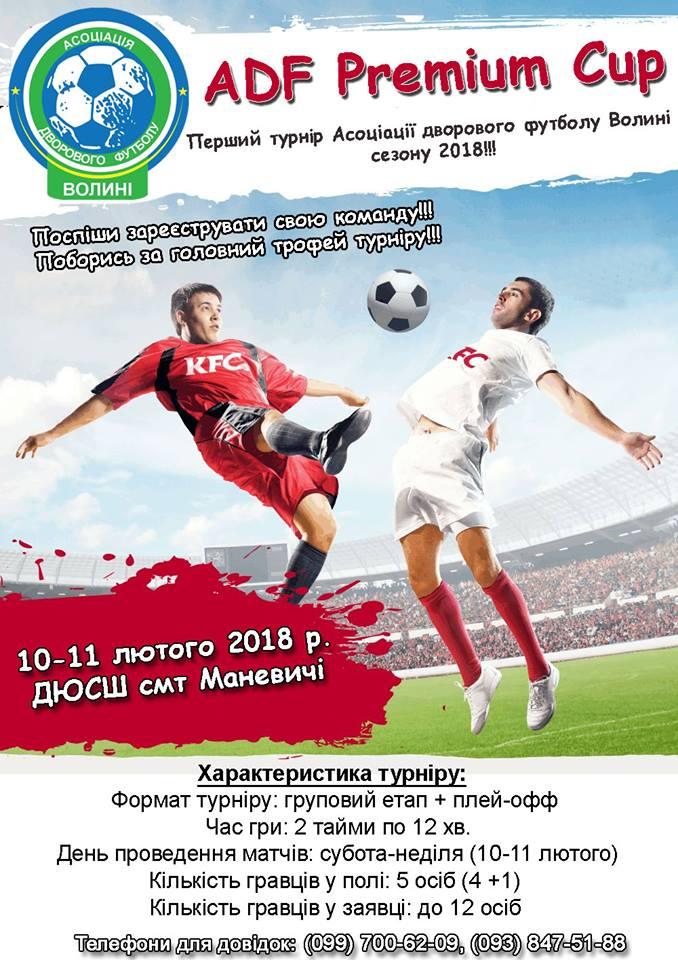 Маневичі приймуть всеукраїнський ADF Premium Cup