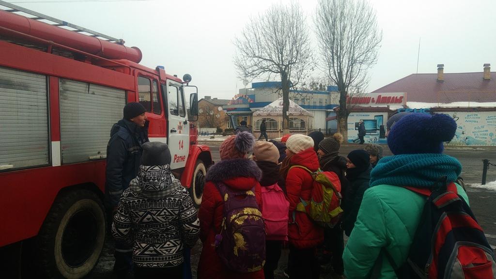 Волинські рятувальники провели пізнавальну екскурсію для школярів