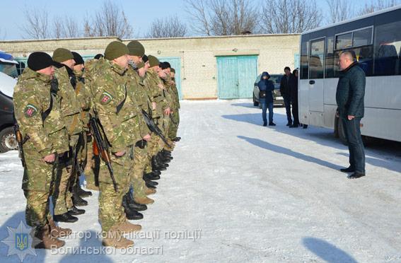 Волинські бійці вирушили в зону проведення АТО. ФОТО