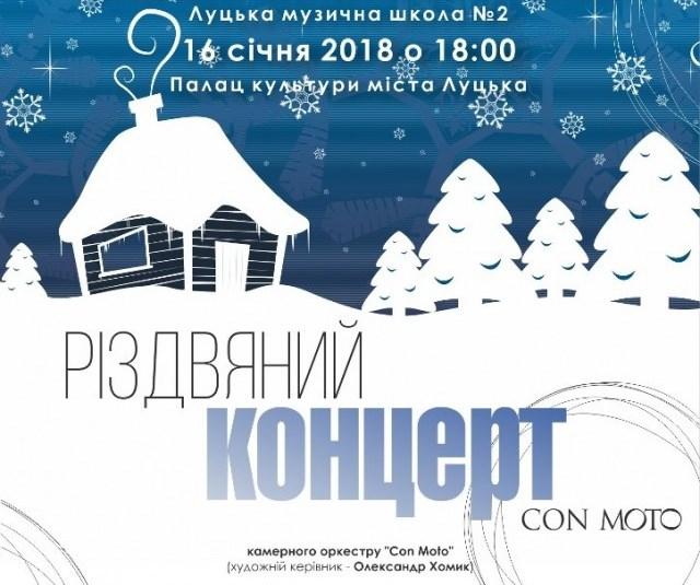 Лучан запрошують на різдвяний концерт камерного оркестру