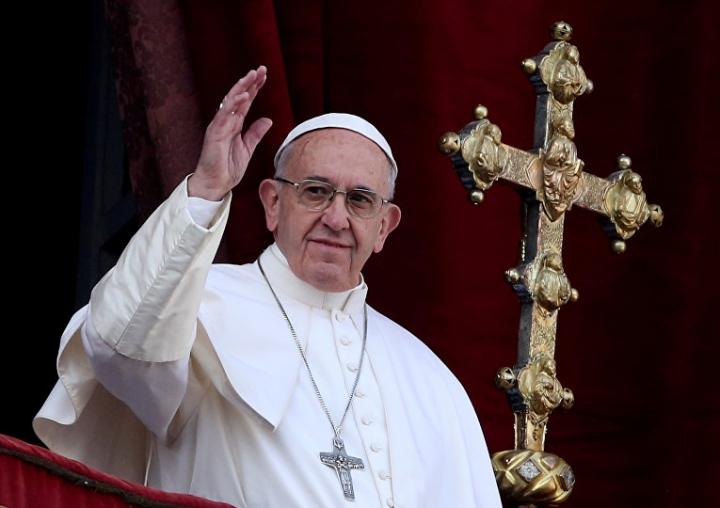 Папа Римський привітав християн східного обряду з Різдвом