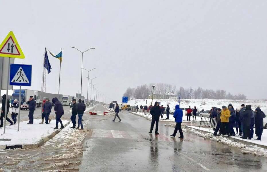 Завершилися акції протесту біля пунктів пропуску на кордоні з Польщею