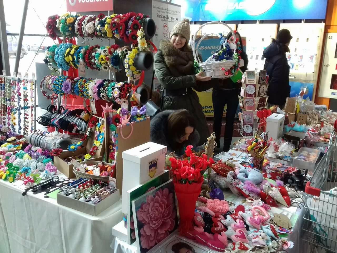 У Луцьку відбувся ярмарок з нагоди Дня святого Валентина. ФОТО