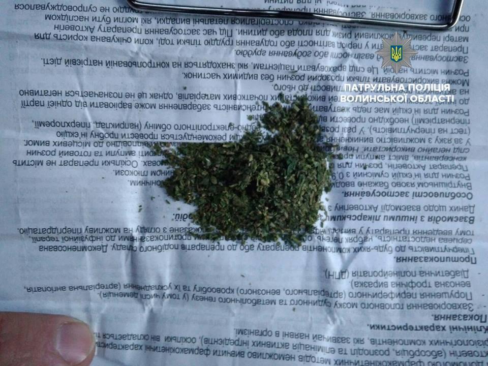 У Ковелі затримали молодика з речовиною, схожою на наркотичну