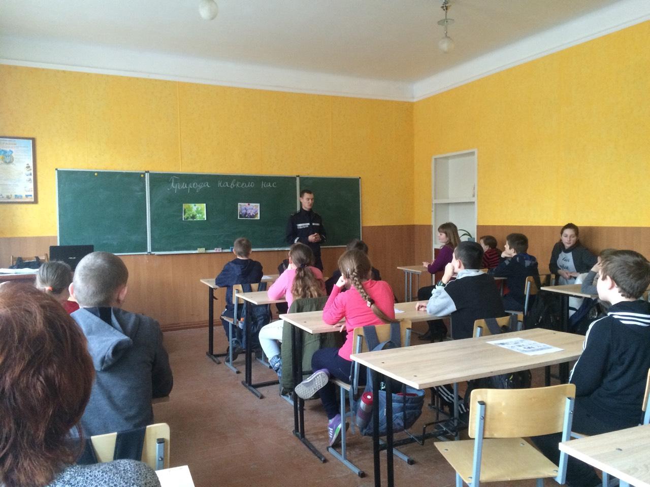 Волинським школярам розповіли правила безпеки при перебуванні на кризі