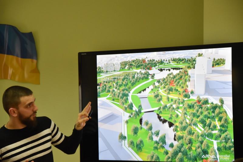 Лучанам представили остаточну концепцію реконструкції парку імені 900-річчя. ФОТО