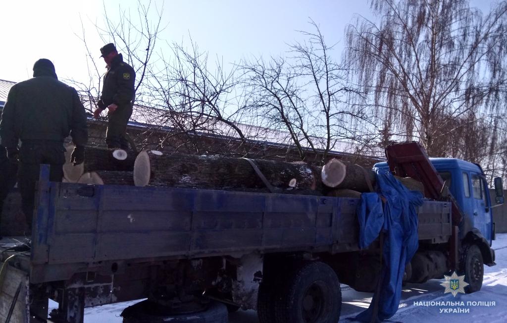 На Волині затримали вантажівку лісопродукції із сумнівними документами. ФОТО