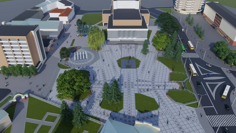 У Луцьку хочуть докорінно змінити зовнішній вигляд Театрального майдану. ФОТО