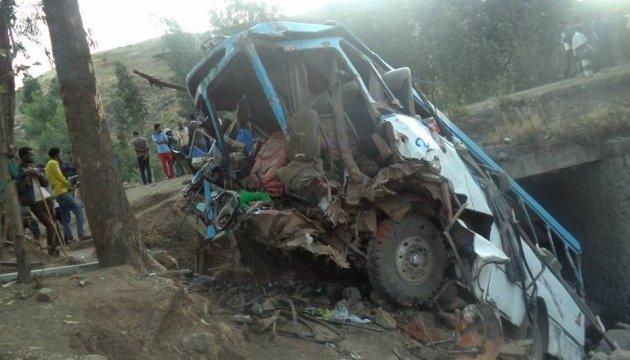 В Ефіопії автобус впав у прірву, 38 загиблих