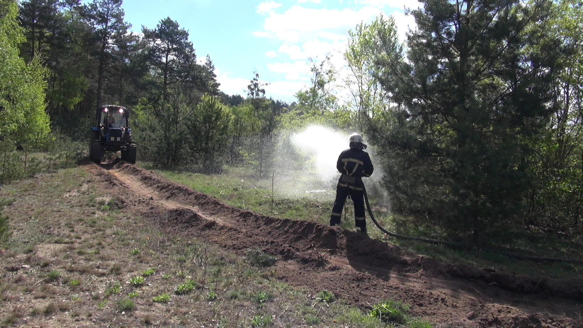 На Волині рятувальники із лісівниками тренувались протидіяти лісовим пожежам. ФОТО. ВІДЕО