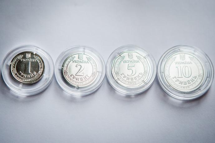 В Україні вводять в обіг нові монети номіналом одна і дві гривні