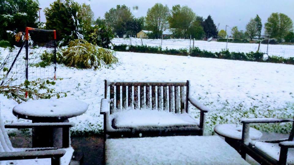 У Франції випав сніг. ФОТО. ВІДЕО
