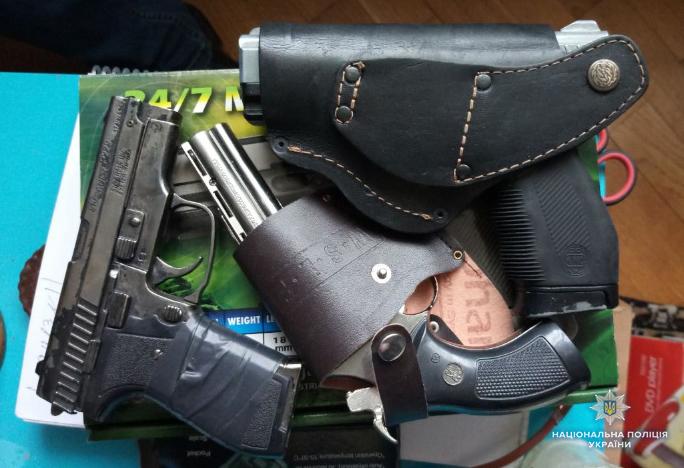 На Волині поліцейські вилучили зброю та боєприпаси. ФОТО