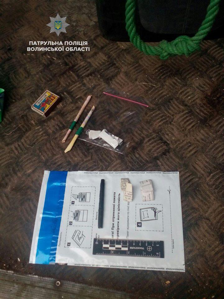 У Ковелі патрульні виявили осіб з наркотиками. ФОТО