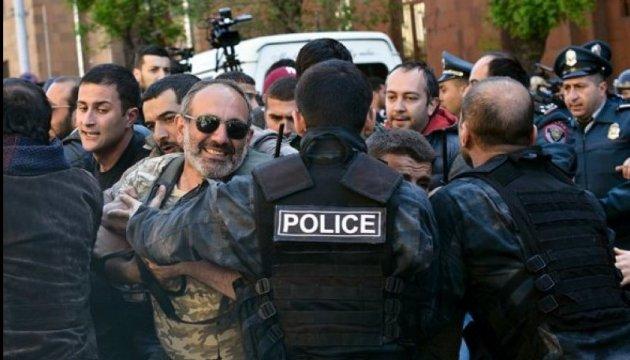 Протести в Єревані: поліція затримала вже 80 демонстрантів