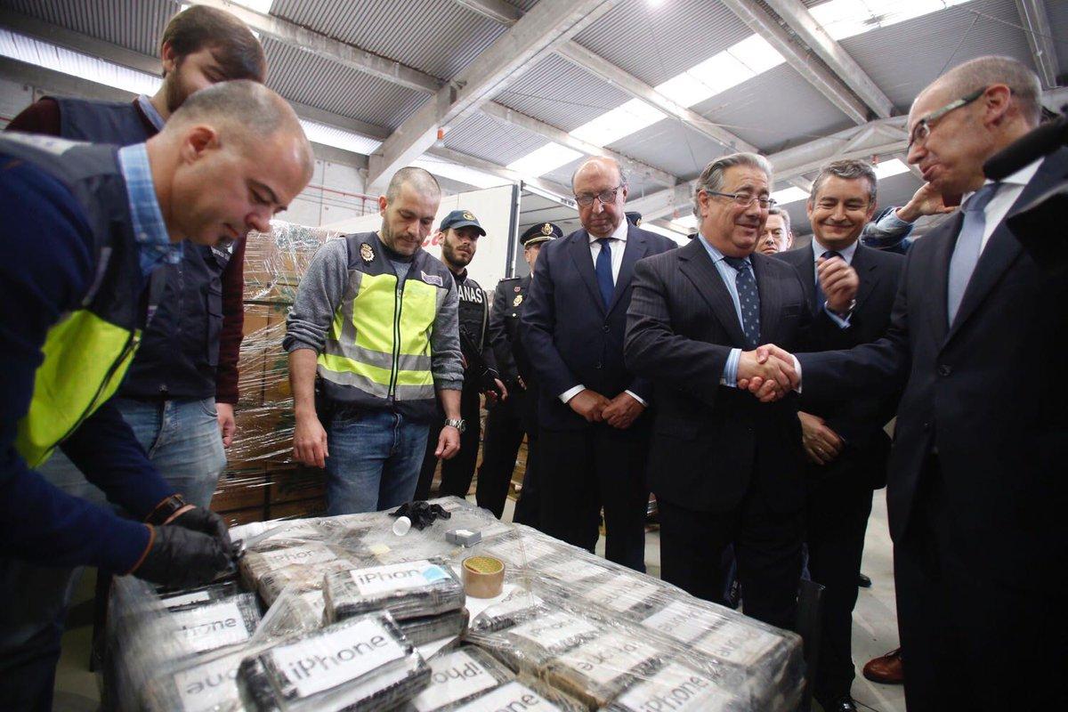 В Іспанії вилучили рекордну для Європи партію кокаїну вагою майже дев'ять тонн. ВІДЕО