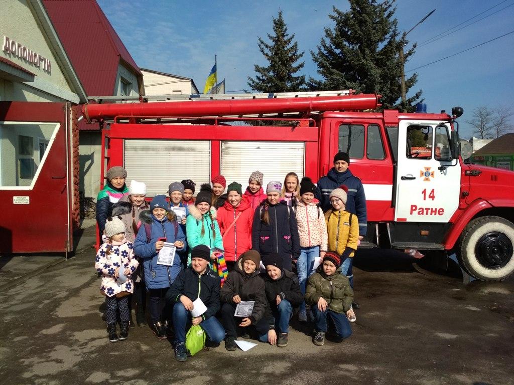 Волинські школярі завітали на екскурсію до пожежно-рятувального підрозділу. ФОТО
