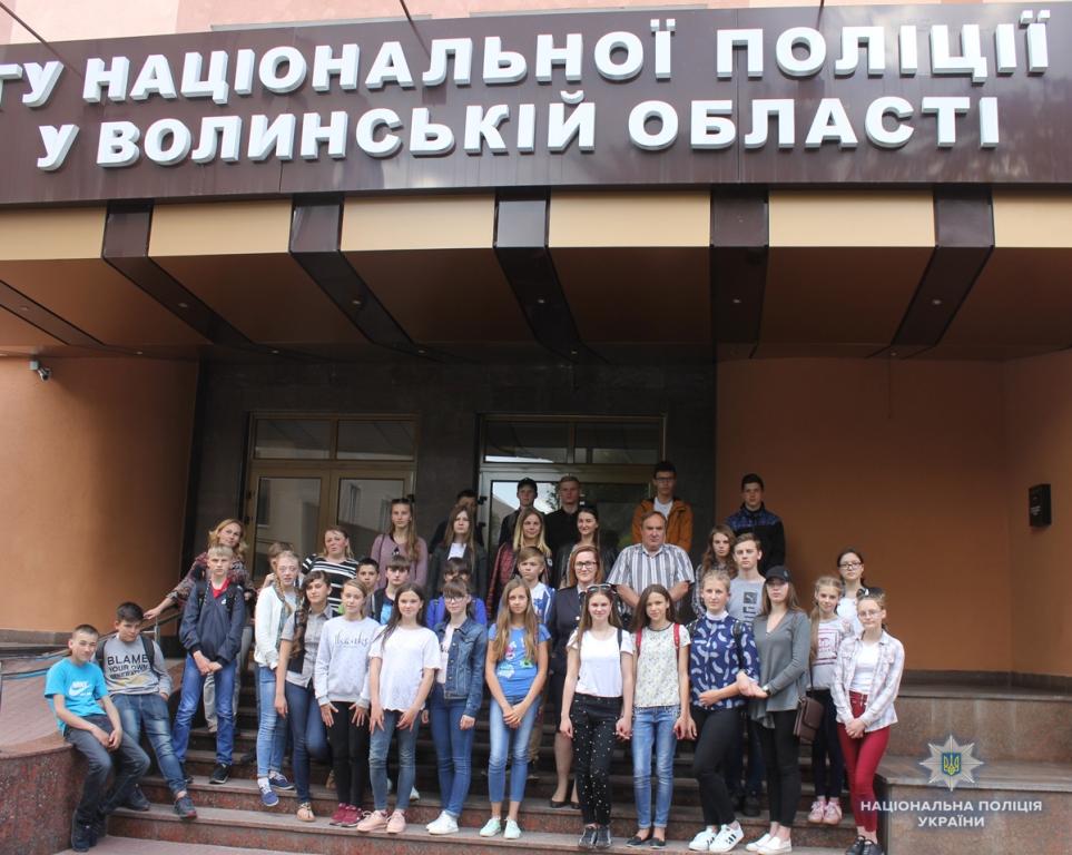 До волинських поліцейських завітали школярі з Рівненщини. ФОТО