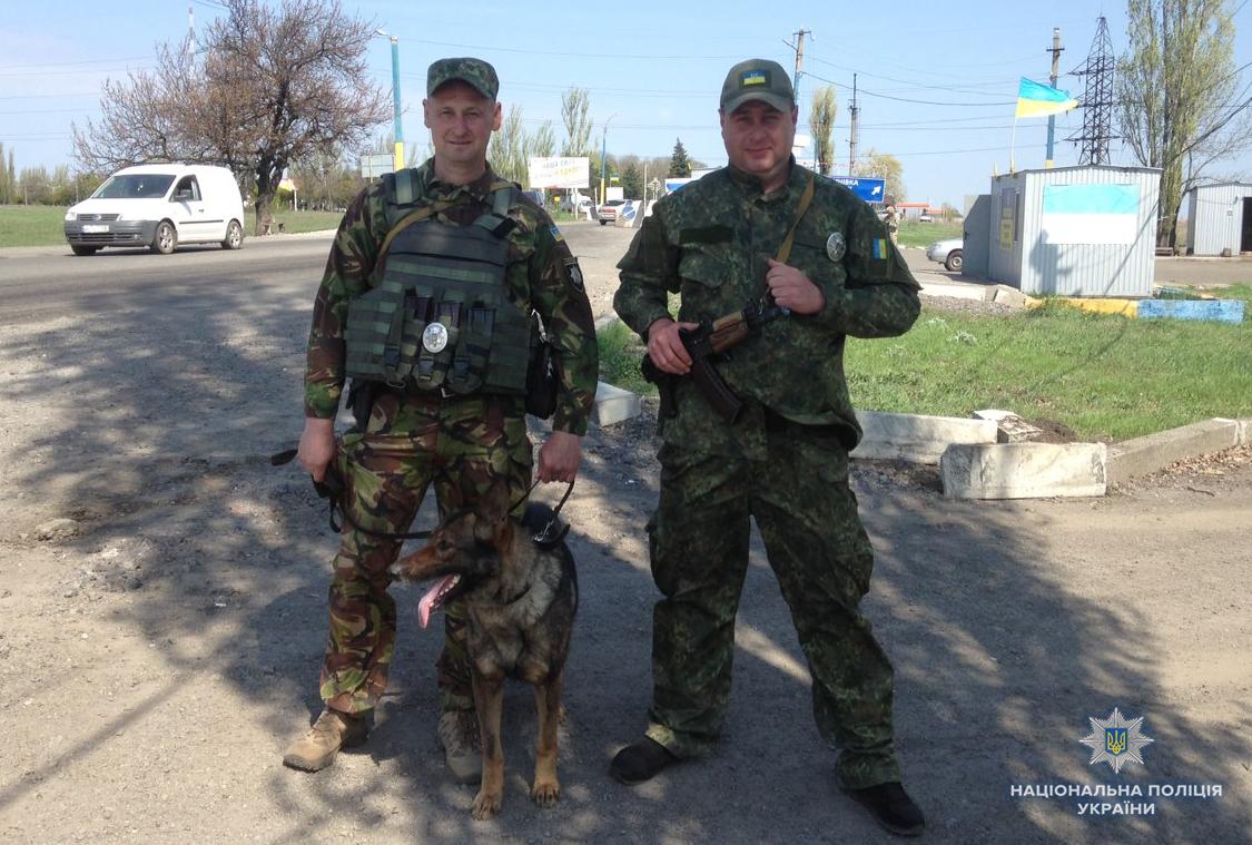 Поліцейська вівчарка з Волині знайшла схованку з гранатами у зоні АТО