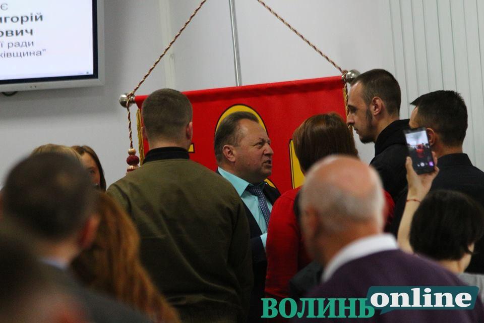 Учасники АТО заблокували трибуну Луцькради