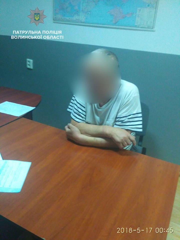 У Луцьку затримали п'яного водія, який скоїв ДТП і втік. ФОТО. ВІДЕО