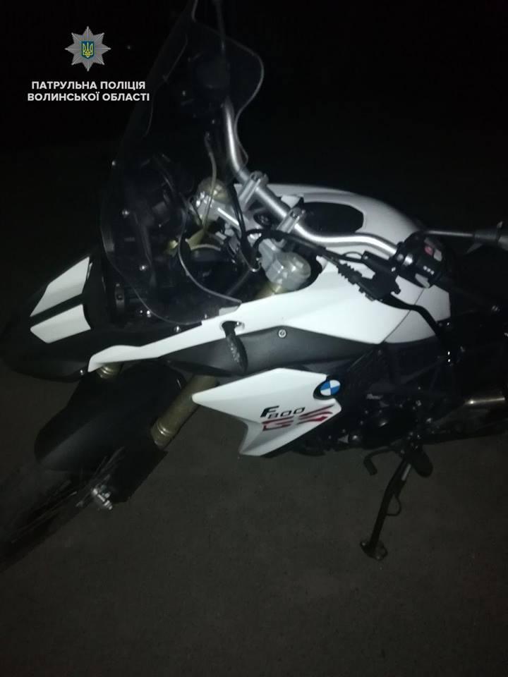 У Ковелі виявили нетверезого водія за кермом вкраденого мотоцикла