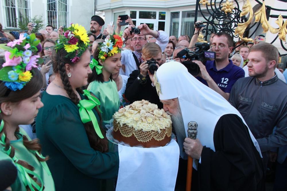 Патріарх Філарет прибув у Луцьк. ФОТО. ВІДЕО