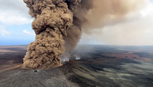 На Гаваях вулкан Кілауеа викинув попіл на дев'ять кілометрів
