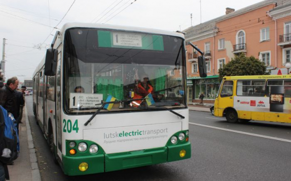 У Луцьку жінку з дитиною затисло у дверях тролейбуса