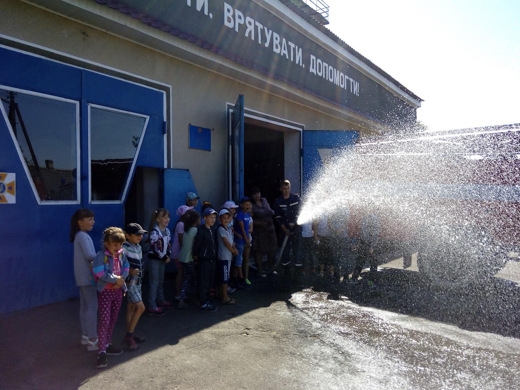 У Шацьку до рятувальників завітали діти