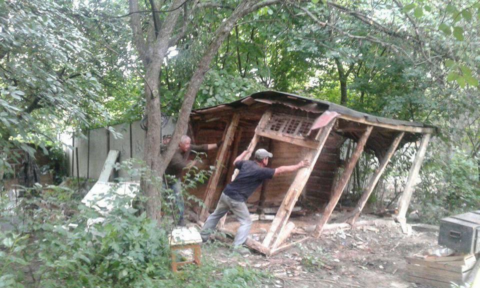 У Луцьку демонтували сараї