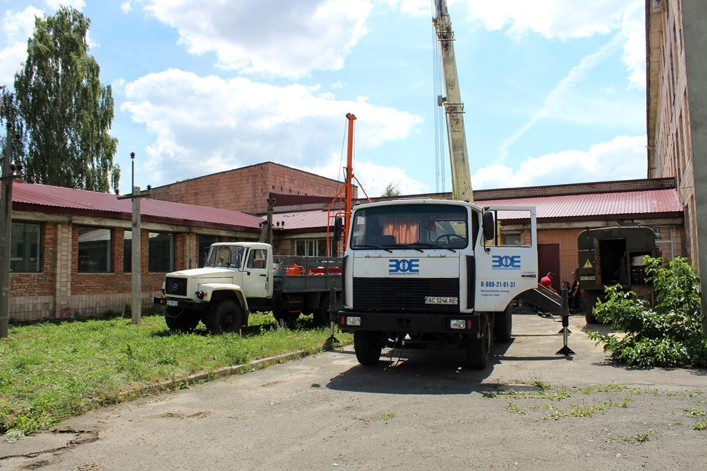 У луцькому виші триває будівництво навчального електромонтажного полігону. ФОТО
