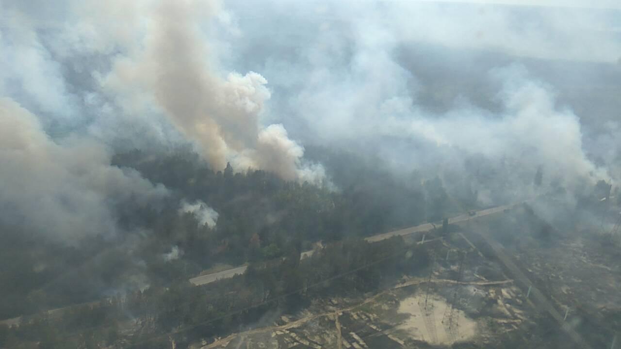 У Чорнобильській зоні горить близько 10 гектарів лісу