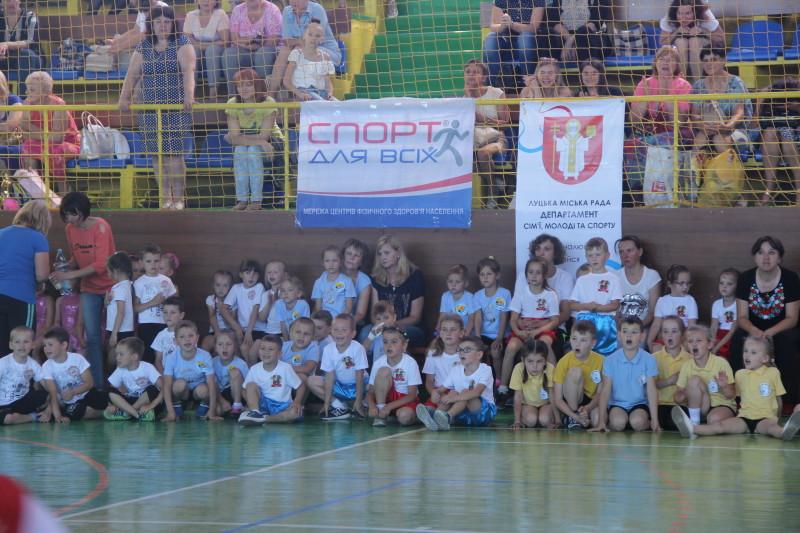 Для луцьких дошкільнят влаштували спортивне свято. ФОТО