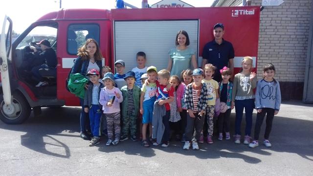 У Луцьку до рятувальників на екскурсію завітали маленькі гості