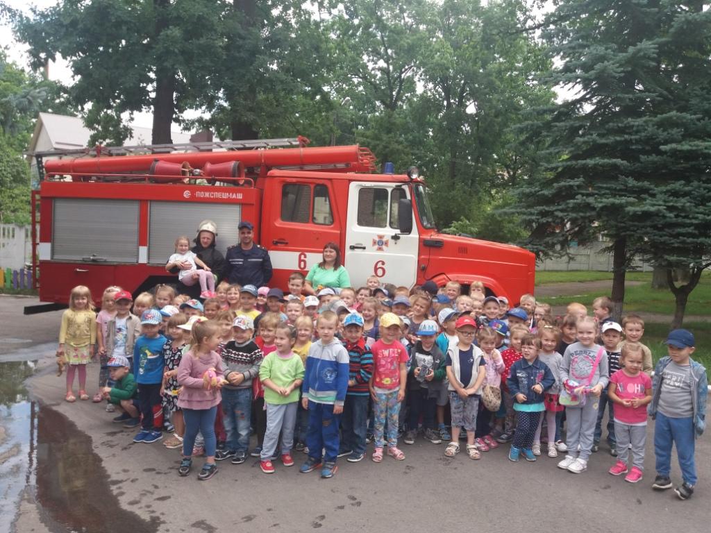 Рятувальники навчали дітей правил пожежної безпеки
