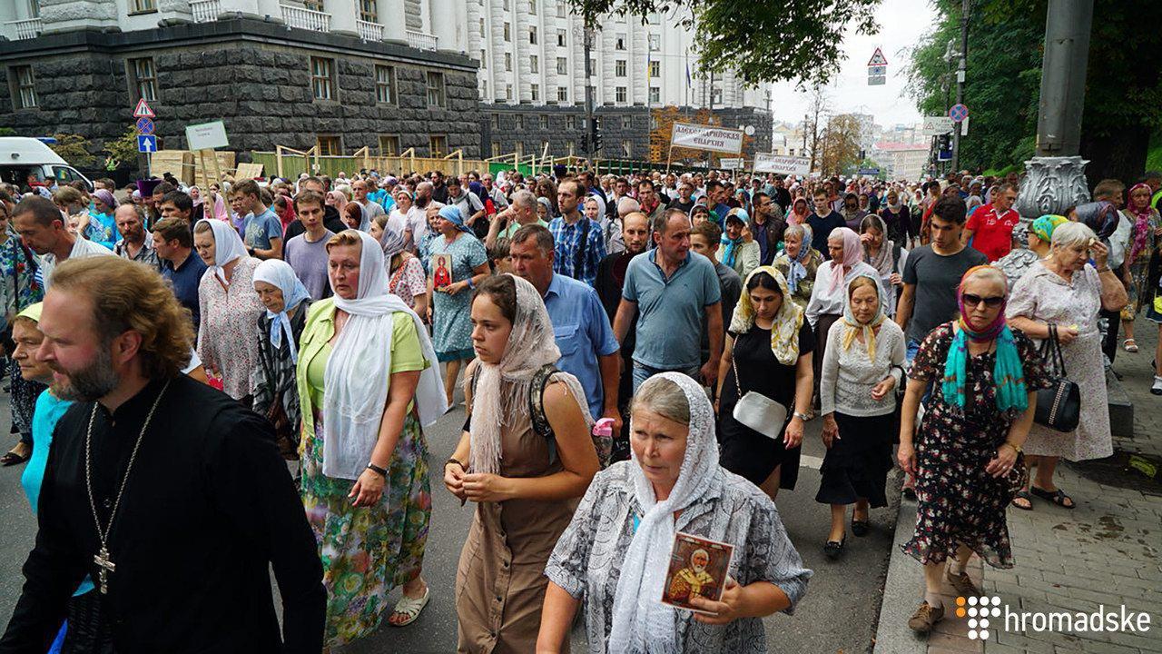 Хода вірян у Києві: поліція затримала трьох людей