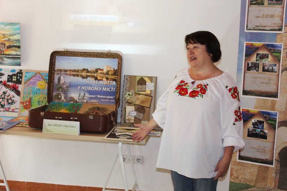 У Луцьку представили роботи і вироби талановитих переселенців. ФОТО