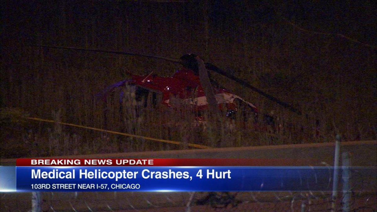 У Чикаго розбився медичний вертоліт з пацієнтом у критичному стані