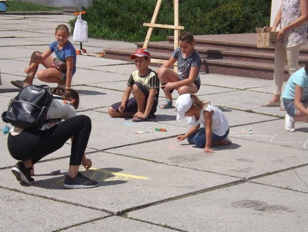 У Луцьку відбувся конкурс малюнка на асфальті. ФОТО
