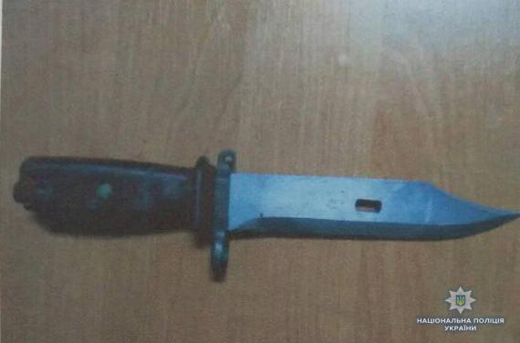 На Волині правоохоронці вилучили ніж у іноземця