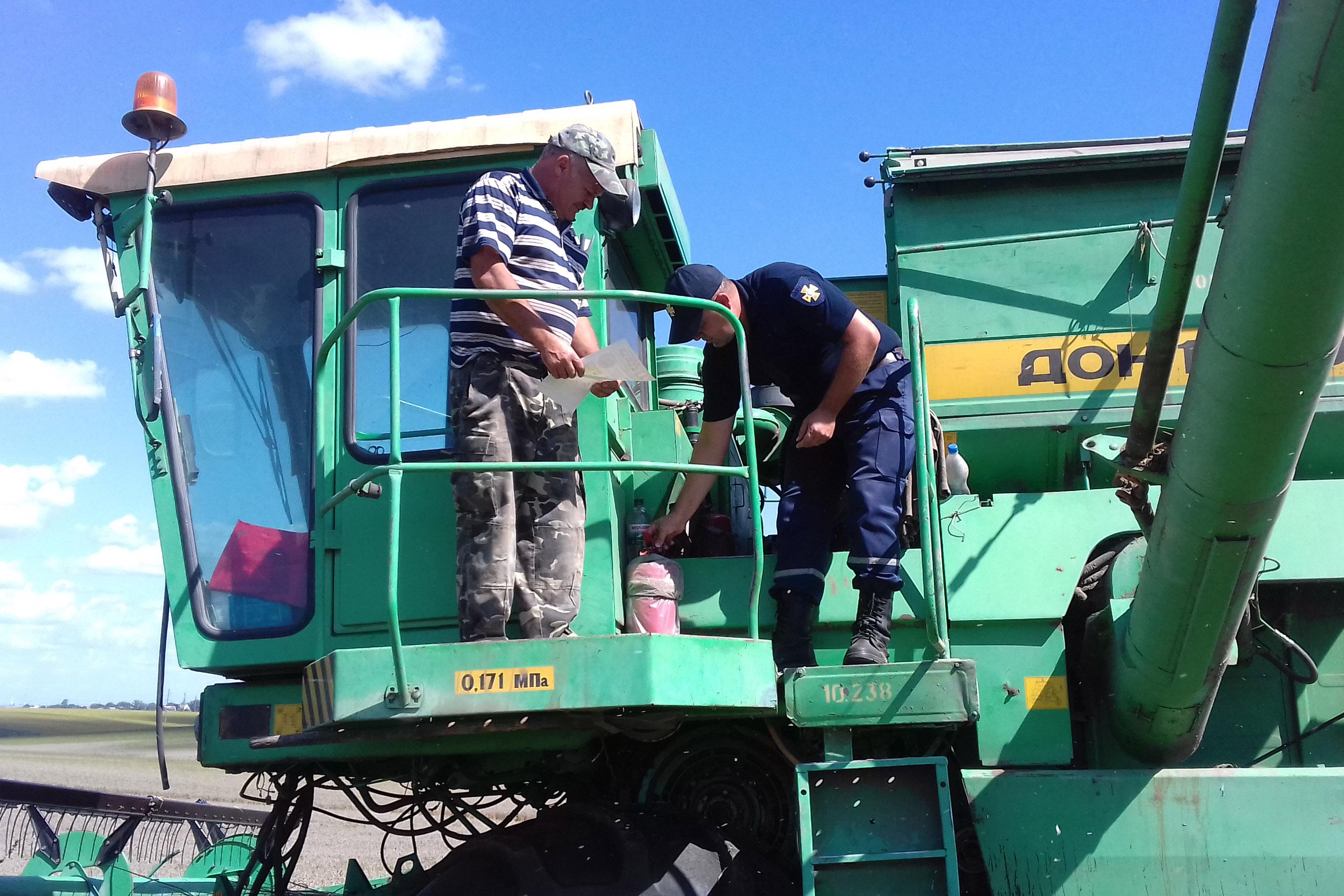 На Волині рятувальники розповіли аграріям, як зберегти врожай від пожеж