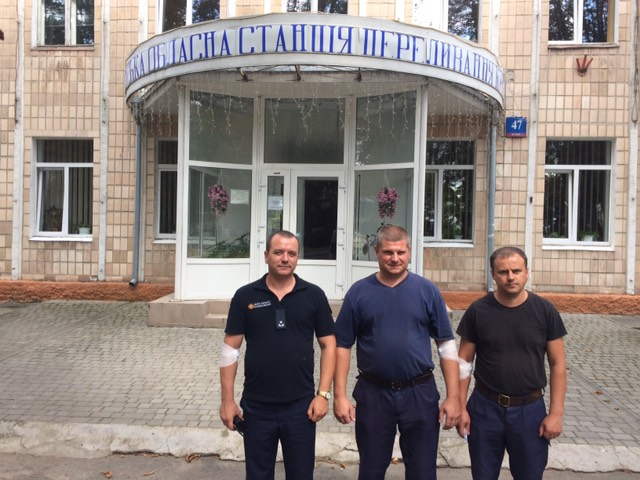 Волинські рятувальники здали кров для українських лікарень