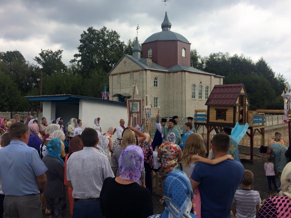 На Ковельщині під час храмового свята освятили майданчик