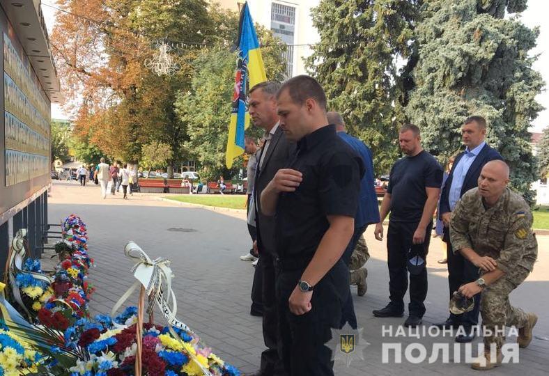На Волині поліцейські вшанували пам'ять героїв, загиблих у боях за Іловайськ. ФОТО. ВІДЕО