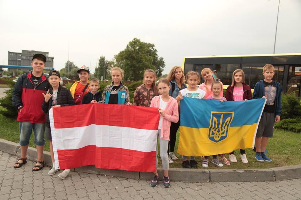 Діти волинських Героїв відправилися на відпочинок до Відня. ФОТО