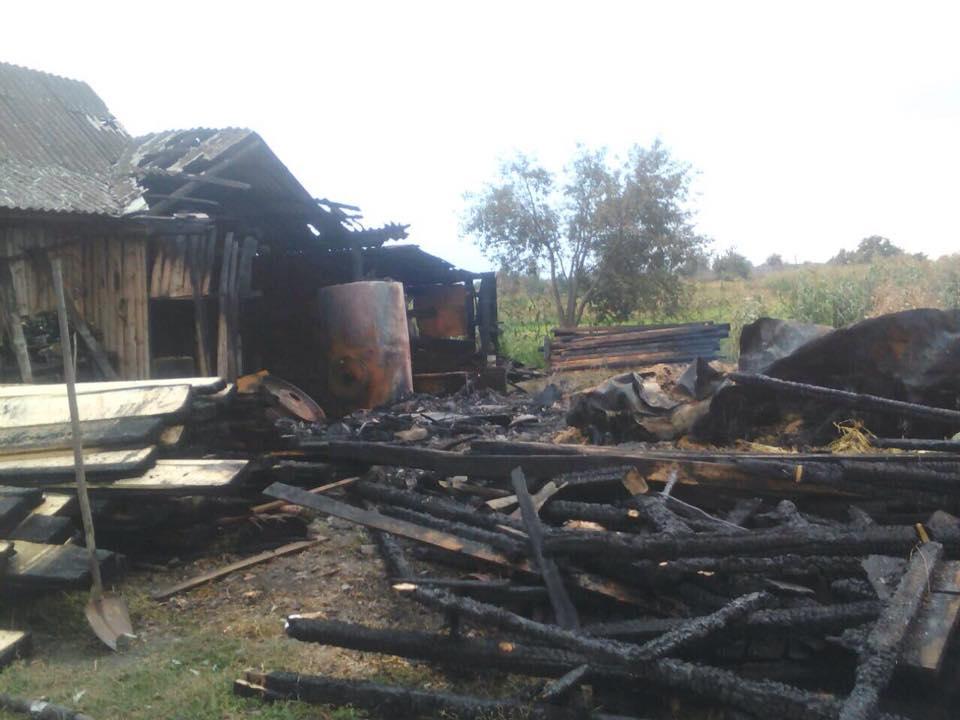 На Волині блискавки спричинили дві пожежі